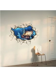 Amazing Creative 3D Treasure Lake Design Wall Sticker