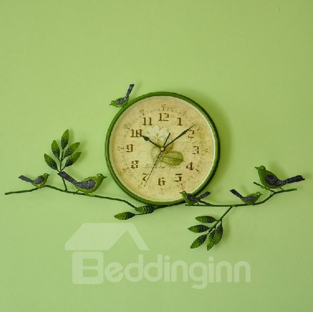 Amazing Tree and Birds Pattern Design Wall Clock