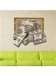 Fancy Creative 3D Money Design Wall Sticker