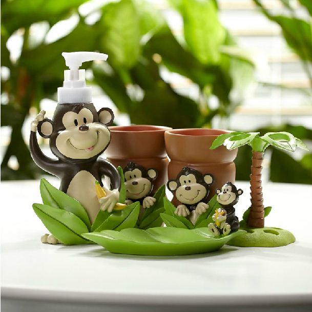 New Arrival Fancy Lovely Monkey Pattern Bathroom Accessories