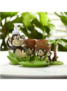 New Arrival Fancy Lovely Monkey Pattern Bathroom Accessories