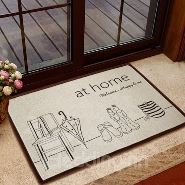 Amazing Simple Style Solid Umbrella Non-slip Doormat