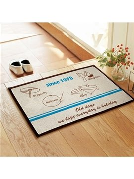 Simple Funny Children's Toys Pattern Non-slip Doormat