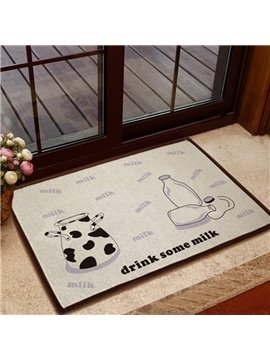 Simple Style Milk Bottle Pattern Non-slip Doormat