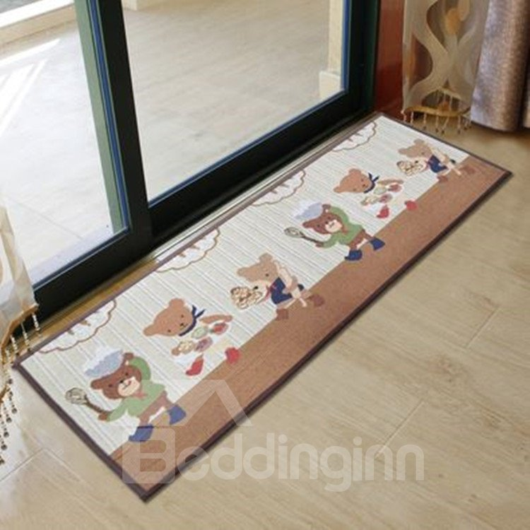 New Arrival Elegant Cartoon Chef Bear Pattern Non Slip