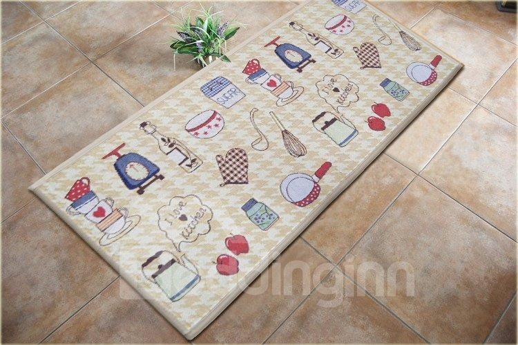 Fany Kitchen Ware Pattern Non-slip Area Rug