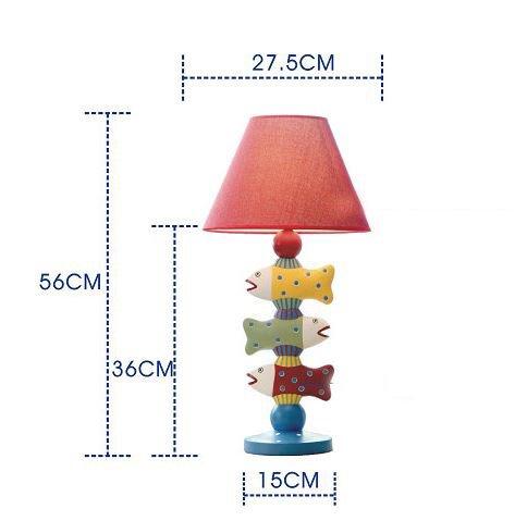 Amazing Mediterranean Style Creative Three Fish Design Table Lamp