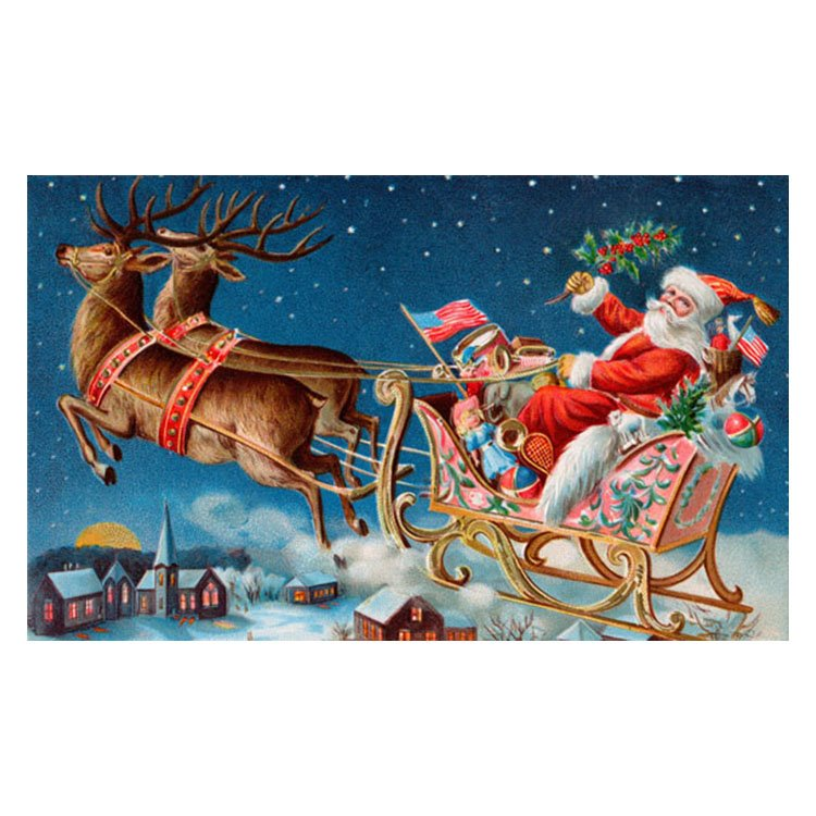 Fancy Santa Claus Pattern Non-slip Doormat