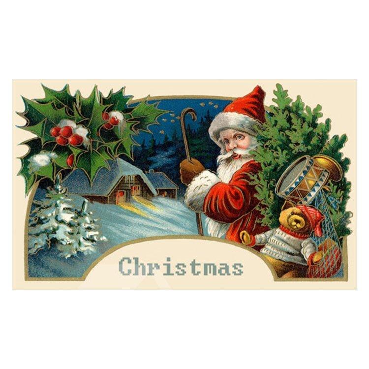 Fancy Santa Claus Carrying Gifts Pattern Non-slip Doormat
