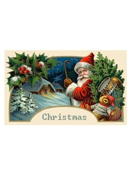 Fancy Santa Claus Carrying Gifts Pattern Non-slip Doormat