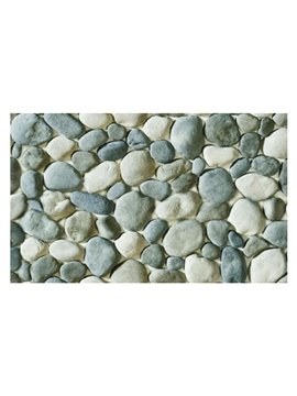 Amazing Simple Style Cobblestones Pattern Non-slip Doormat