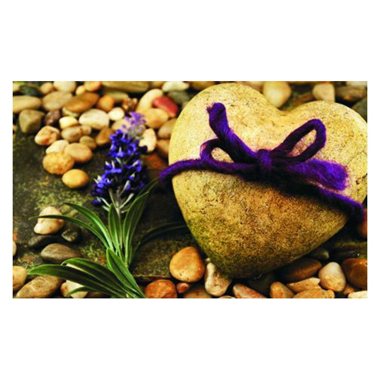 Charming Heart-shaped Cobblestones Pattern Non-slip Doormat