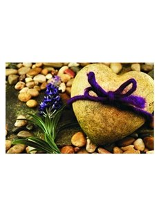 Charming Heart-shaped Cobblestones Pattern Non-slip Doormat