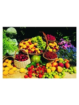 Charming all Kinds of Fruits in the Baskets Pattern Non-slip Doormat