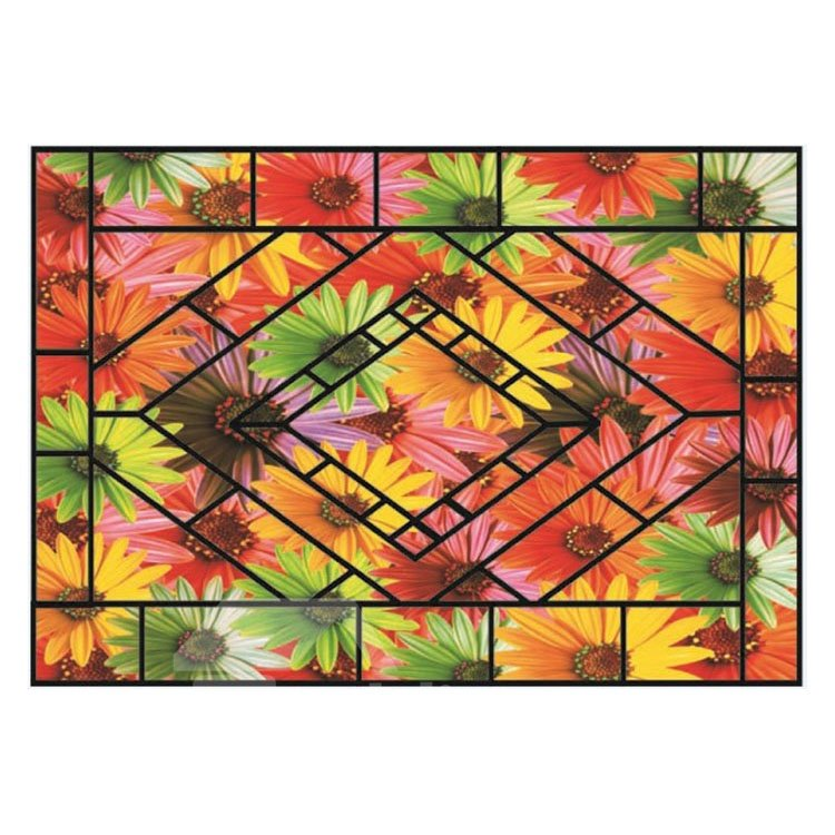 Gorgeous Beautiful Flowers Pattern Non-slip Doormat