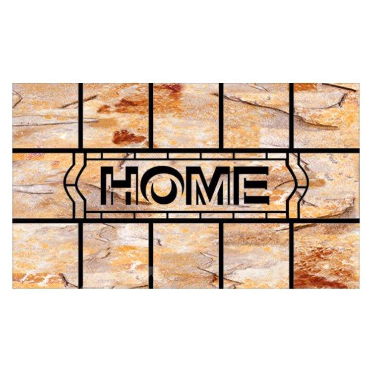 Pretty Home Word Pattern Non-slip Flocking Doormat