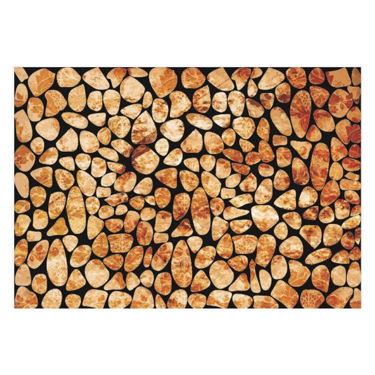 Retro Style Amazing Stones Pattern Non-slip Flocking Doormat