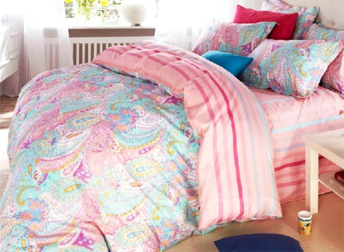 Very Beautiful Paisley Flower Print Cotton Duvet Cover Sets