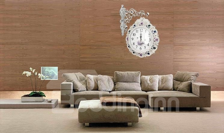 European Style Amazing Creative Gemstone Design Resinn Wall Clock