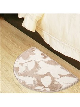 Modern Style Pretty Patterns Semi-circle Non-slip Suede Bath Rug