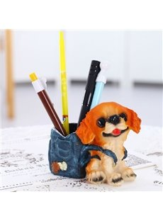 Super Cute Creative Dog Design Resin Pen Holder