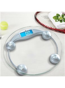 High Accuracy Round Shape LCD Silver Weight Scale