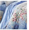 Pretty Little Flower Print 4-Piece Cotton Duvet Cover Sets