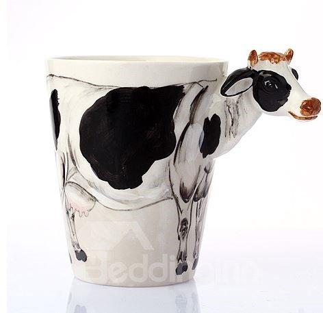 Alluring Creative Cow Design Ceramic Hand Painting Cup