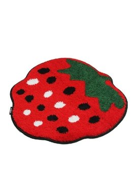 Super Lovely Straberry Design Water Absorption Non-slip Mat