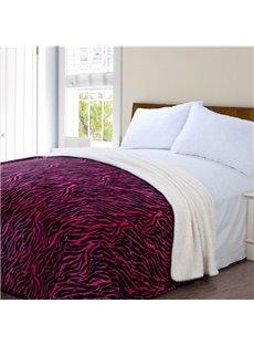 Quality High Grade Red Zebra Pattern Blanket
