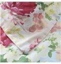 Splendid Colorful Flower Print 4-Piece Cotton Duvet Cover Sets