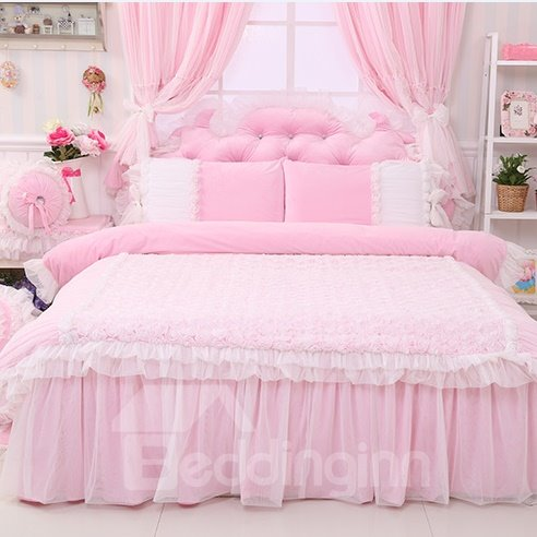 High Quality Charming Crystal Velvet 4 Piece Cinderella Duvet Cover Sets