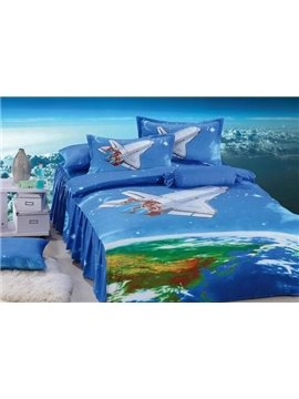 High Quality Fantastic 3D cotton Cartoon 3-piece bedding sets