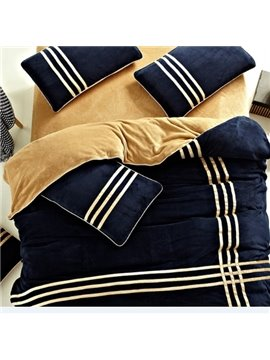 New Arrival Luxury Farley Plush Velvet 4 Piece Bedding Sets