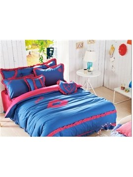 New Style Lovely Lips Print 4-Piece Cotton Duvet Cover Sets