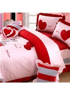 Hot Selling Gorgeous Velvet Thickening Cotton 4-piece Wedding Bedding Sets