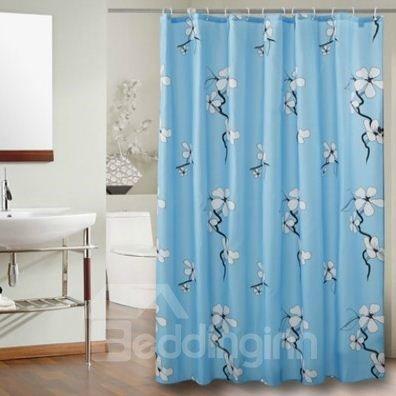 Blooming Wintersweet Print Polyester Waterproof Shower Curtain