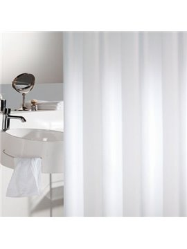 Quality Pure White Waterproof Shower Curtain