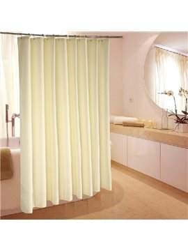 High Grade Jacquard Beige Waterproof Shower Curtain