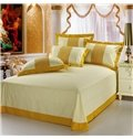 High Quality Royal Golden Yellow Floral 4 Piece Bedding Sets