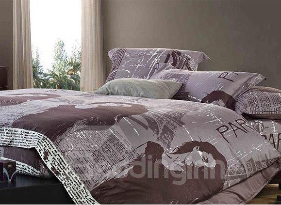 Top Quality Amazing Black-White Series Cotton 4-piece bedding sets