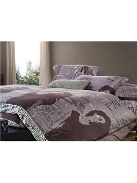 Top Quality Amazing Black-White Series Cotton 4-piece bedding sets