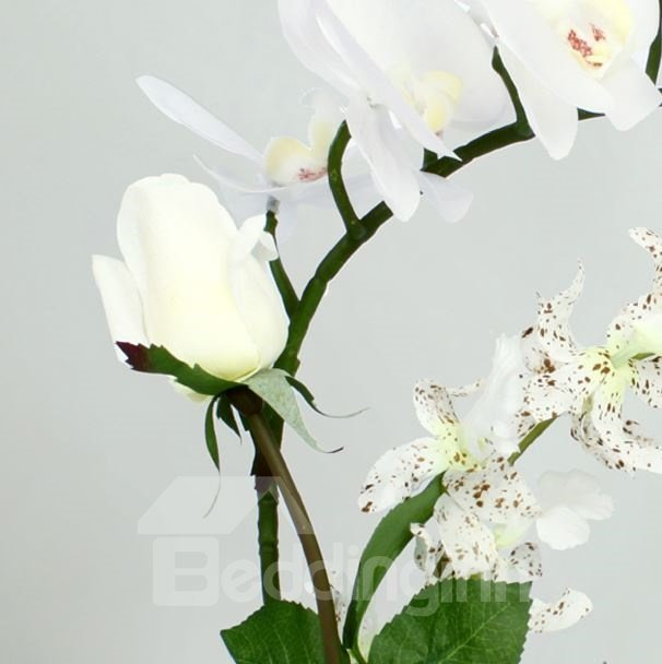 New Arrival Elegant Beautiful Butterfly Orchid Artificial Flowers Sets