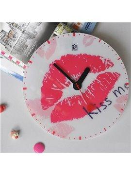 Modern Elegant Creative Alluring Lip Wall Clock