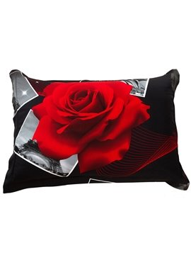 Gorgeous Fancy Red Roses Print 3D Two Pieces Pillowcases