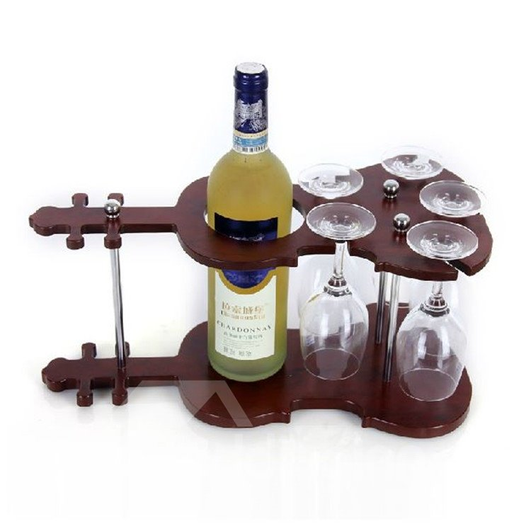 Amazing European Style Creative Violin Design Wine Rack