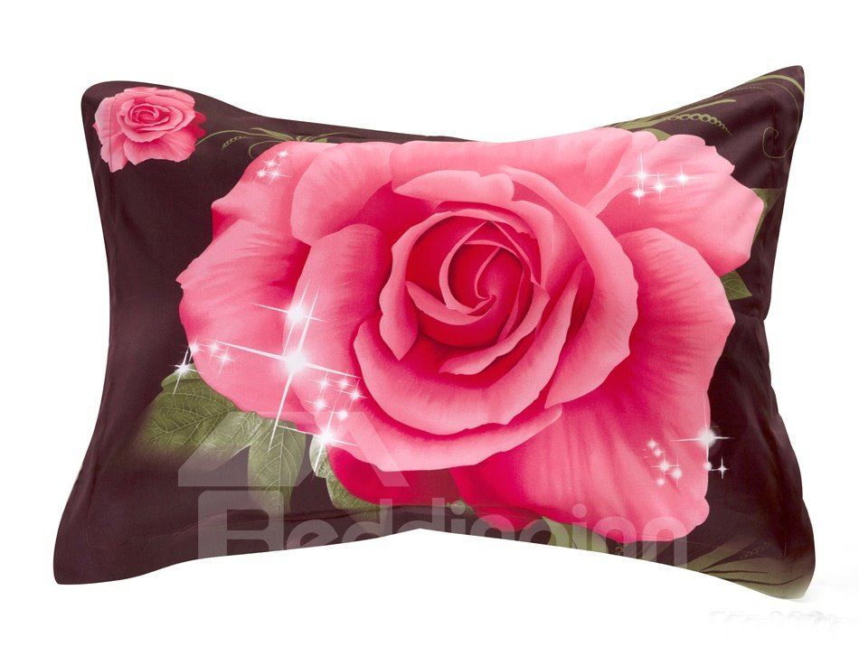 Quality Lifelike Vivid Flowers Print 3D Two-piece Pillowcases