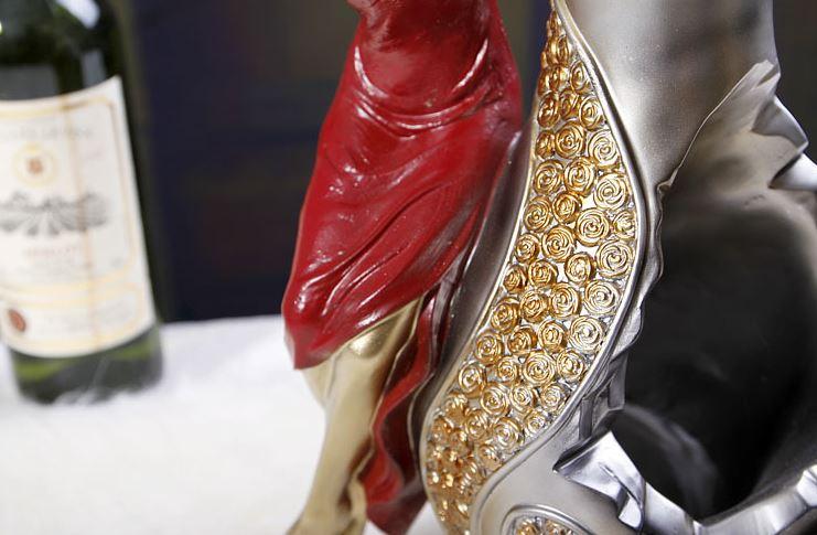 New Arrival Elegant Beauty in a Red Dress Design Wine Rack