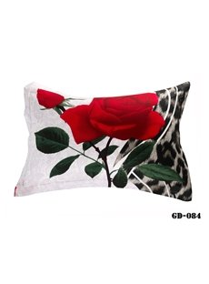 Fancy Vivid Red Roses Print 3D Two-piece Pillowcases