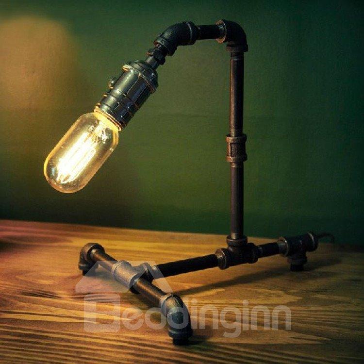 Stunning Retro Creative Water Pipe Design Table Lamp